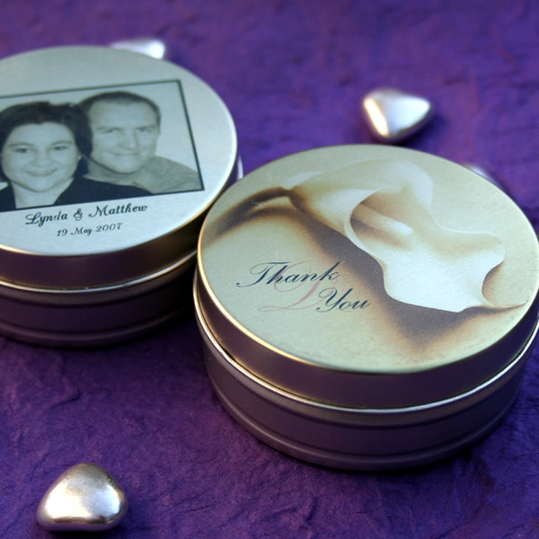 Wedding Favours Mint To Be Personalised Tins Click For Larger Photo