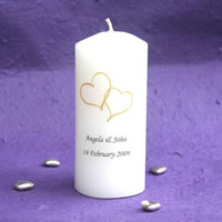 Bridal Favours : Mini Cylindrical Candle