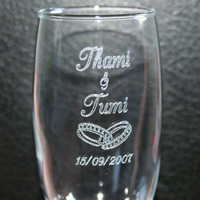 Bridal Favours : Engraving of Glasses (Glasses not supplied)