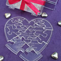Heart-shaped Perspex Puzzle Invitation